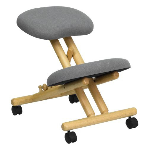 Flash Furniture Adjustable Wooden Knee Stool